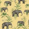 papier peint oscar the elephant yellow 4