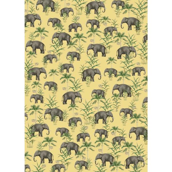 papier peint oscar the elephant yellow 5