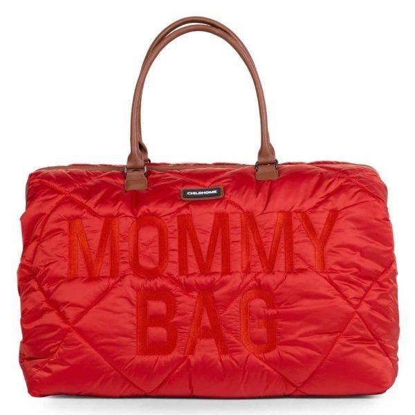 sac mommy bag matelassé rouge childhome (1)