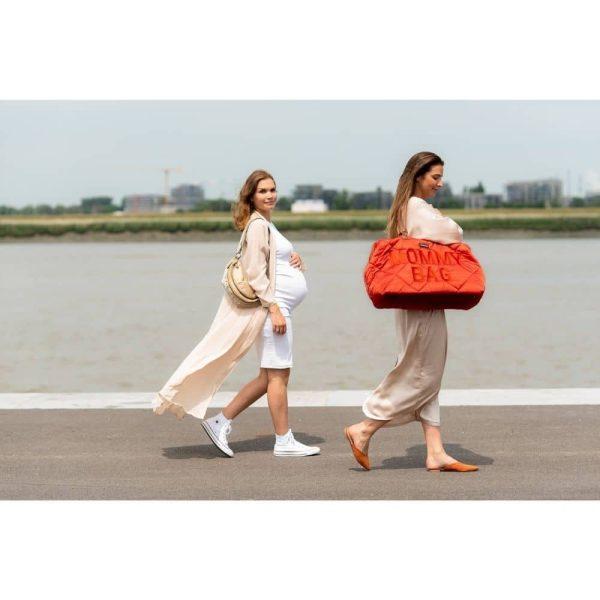 sac mommy bag matelassé rouge childhome (10)