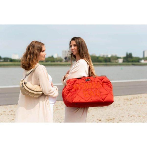 sac mommy bag matelassé rouge childhome (11)