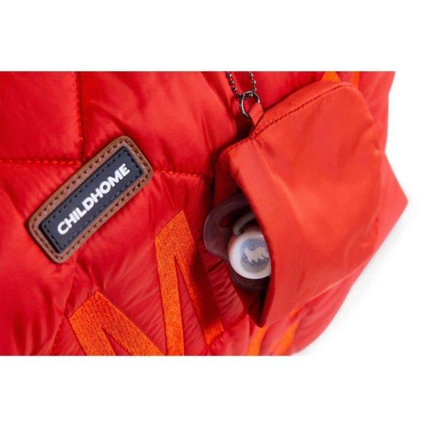 sac mommy bag matelassé rouge childhome (12)