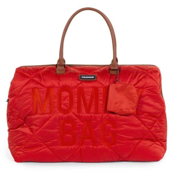 sac mommy bag matelassé rouge childhome (13)
