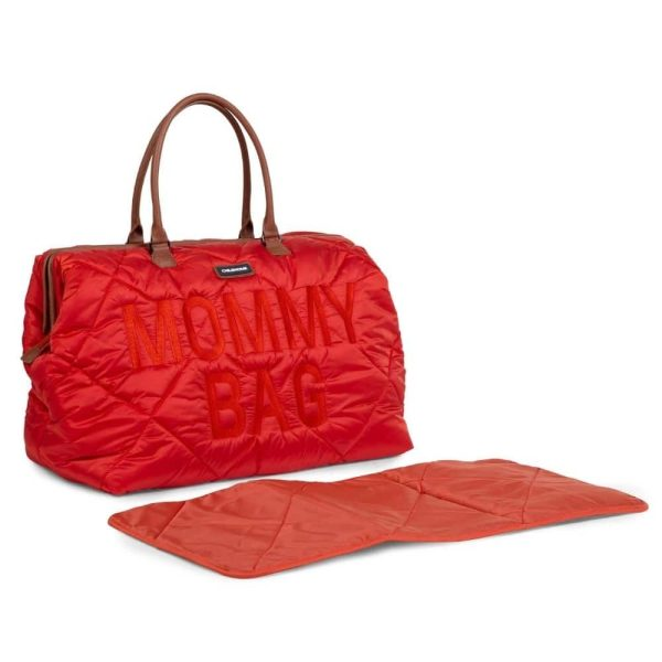sac mommy bag matelassé rouge childhome (17)