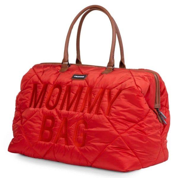 sac mommy bag matelassé rouge childhome (19)
