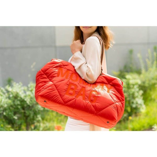 sac mommy bag matelassé rouge childhome (2)