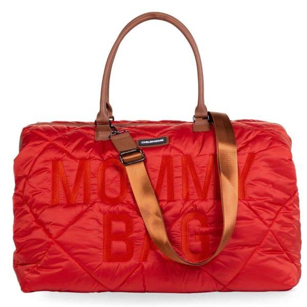 sac mommy bag matelassé rouge childhome (20)