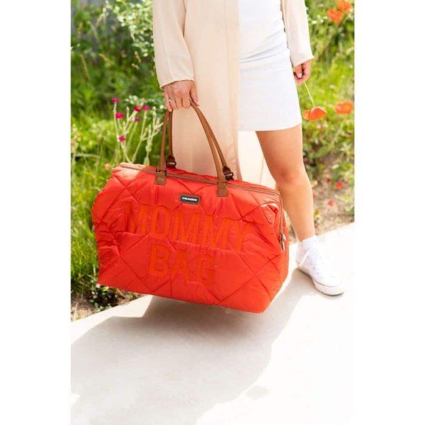 sac mommy bag matelassé rouge childhome (6)