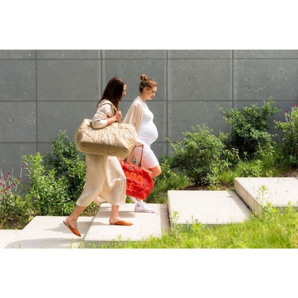 sac mommy bag matelassé rouge childhome (7)