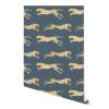 papier peint leopard blue 2