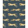papier peint leopard blue 4