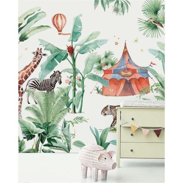 papier peint jungle circus creative lab amsterdam (1)