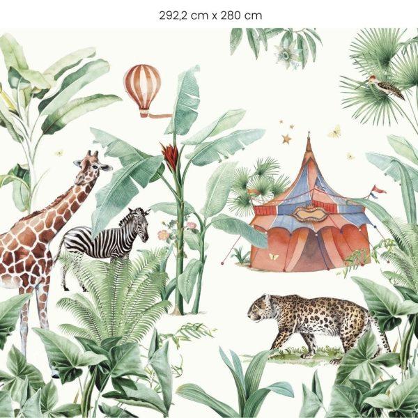 papier peint jungle circus creative lab amsterdam (4)