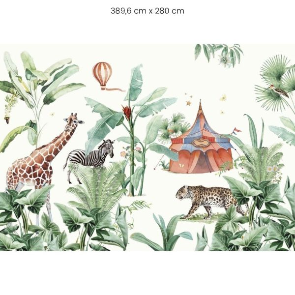 papier peint jungle circus creative lab amsterdam (5)