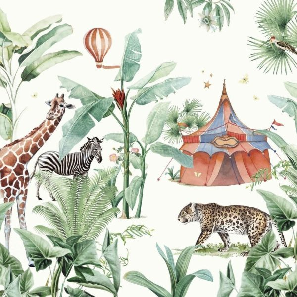 papier peint jungle circus creative lab amsterdam