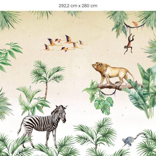 papier peint king of the jungle creative lab amsterdam (3)
