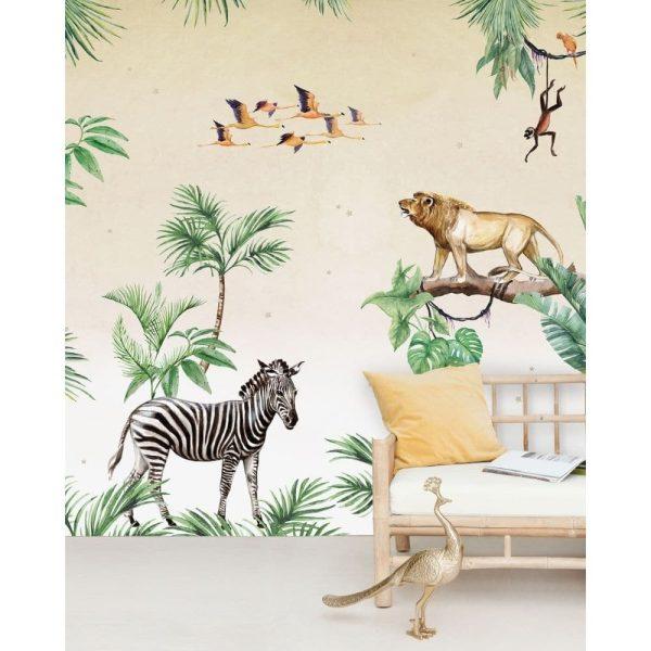 papier peint king of the jungle creative lab amsterdam (5)