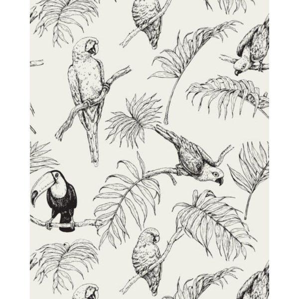 papier peint tropical tucan cream – creative lab amsterdam (1)