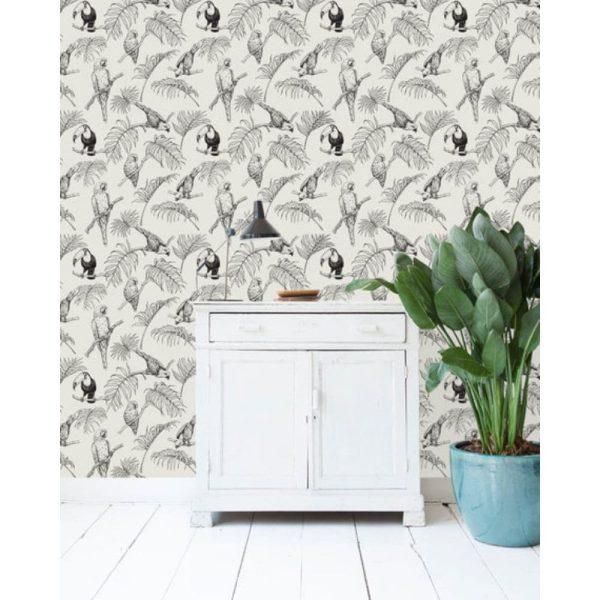 papier peint tropical tucan cream – creative lab amsterdam (2)