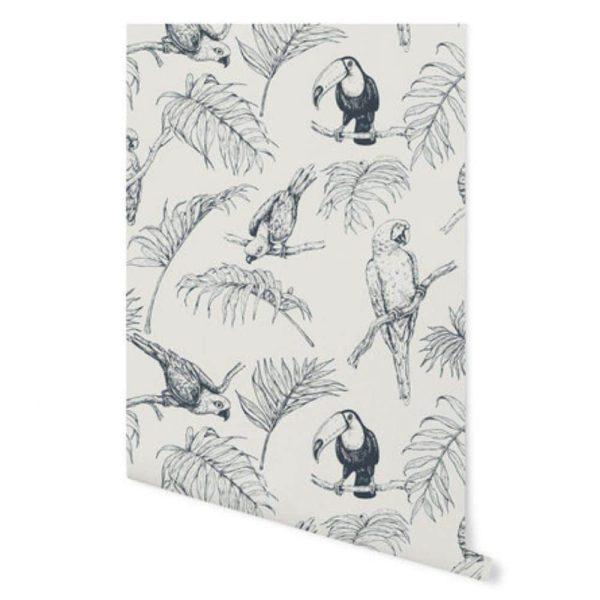 papier peint tropical tucan cream – creative lab amsterdam (3)