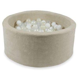piscine à balles ronde rib velvet beige (12)