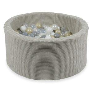 piscine à balles ronde rib velvet gris (9)