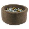 piscine à balles ronde teddy mokka (4)
