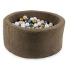 piscine à balles ronde teddy mokka (5)
