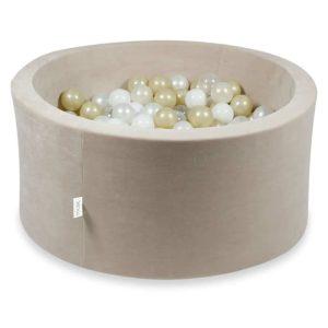 piscine à balles ronde velvet beige (6)