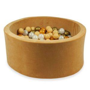 piscine à balles ronde velvet caramel (17)