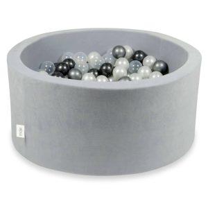 piscine à balles ronde velvet light grey (5)