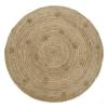 tapis jute avec pompons siska 1