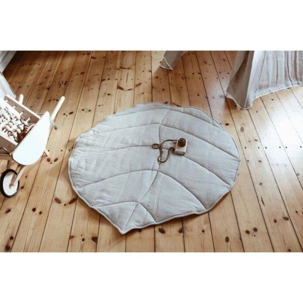 tapis feuille 100 % lin (3)